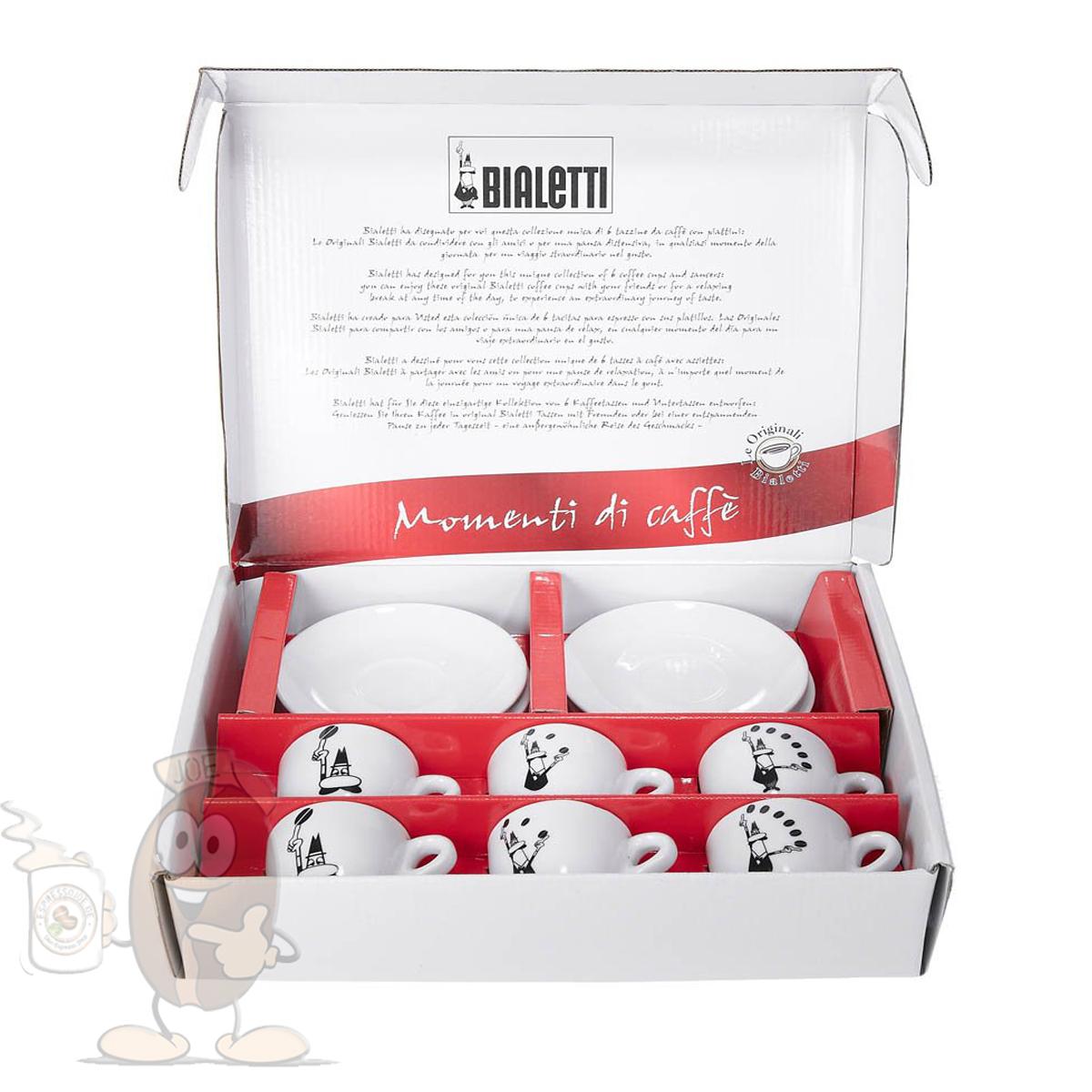 weil kaffee schmecken mu bialetti chicchi espresso tassen set mit 6 tassen mit. Black Bedroom Furniture Sets. Home Design Ideas