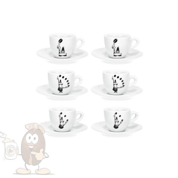 bialetti chicchi espresso tassen set mit 6 tassen mit tollem motiv. Black Bedroom Furniture Sets. Home Design Ideas