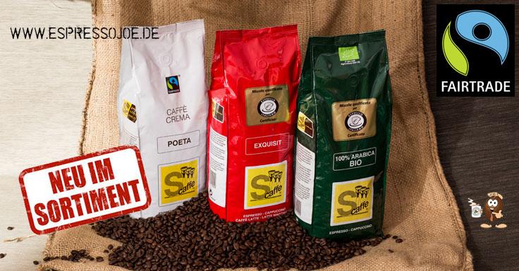 Espresso Kaffee Bohnen und Bialetti Kocher online kaufen.