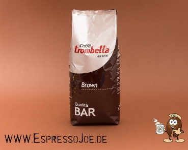 Trombetta Caffé BROWN Qualita Bar Espresso Kaffee 1kg Bohnen
