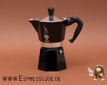 Bialetti Moka Express Colour Espressokocher Black 6 Tassen