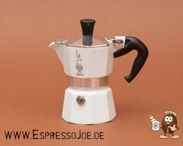 Bialetti Moka Express Colour Espressokocher White 3 Tassen
