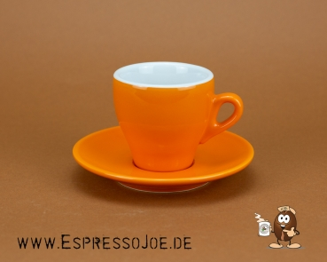 Nuova Point MILANO (155ml) Cappuccino Tasse Orange Designed in Italy