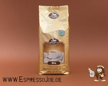 Saquella Espresso Oro Bar Kaffee Bohnen RAINFOREST 1KG