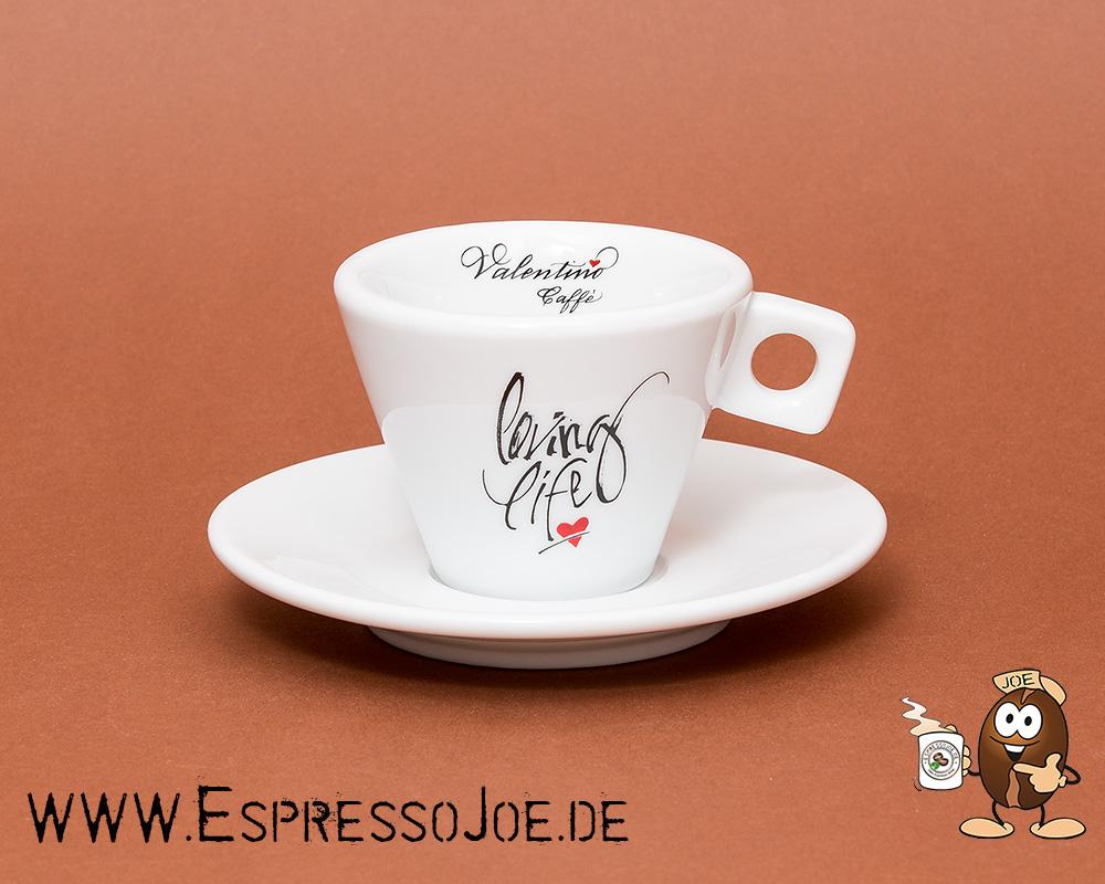Tassen Design valentino genuss in 6 cappuccino tassen mit logoprint seite 2